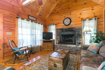 Cozy Living Room with Direct TV and DVD Player with many movies to choose from