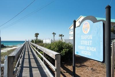 Less than a 2 minute walk to the beach access