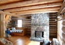 All the fieldstone for the fireplace was gathered from the farm John grew up on.