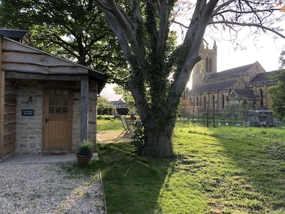 Secluded, private spot with beautiful views of the church