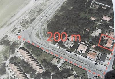 Distance villa - mer