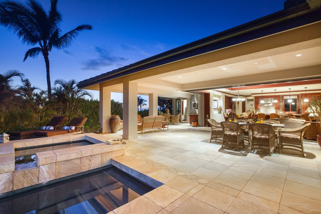 Image of a gorgeous villa in Hawaii with private pool and large outdoor entertaining area.