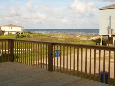 Awesome beach view from the newly extended spacious deck!
