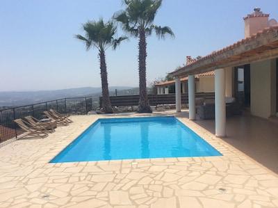 Pool Area with mountain & vineyard views