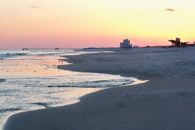 Watch for the evening Sunsets on the Beach.