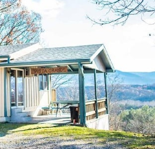 covered porch with picnic table