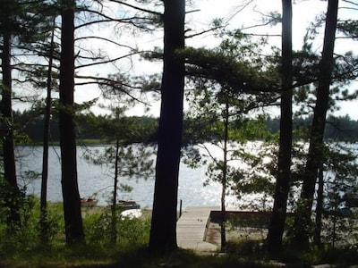 Log Home On Wequas Lake, dog-friendly, fireplace, boats, by snowmobile trails