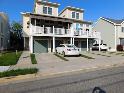 Townhome on left with awnings is the rental.