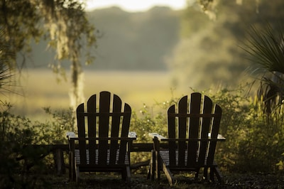 Relax with great views over the salt marsh!