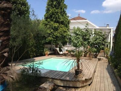 vue exterieure piscine