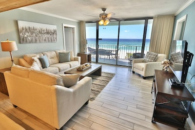 Living room with access to the private balcony.