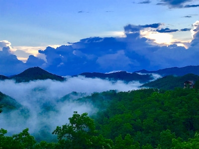 Actual picture of the smoky mountains view from Back porch taken on 05/28/18