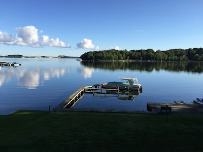 View you'll wake up to!  Few boats on the lake!