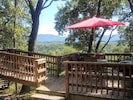 enjoy the beautiful view while grilling and relaxing on the dining deck