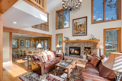 Living Room with fireplace, wood provided.