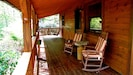 Rockers & porch swing are great for enjoying your morning coffee & peaceful days