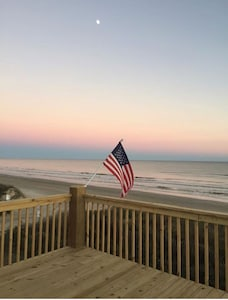 Evening view of beach from front deck
