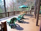 Enjoy Nature At Its Best From the Huge Lower Deck with picnic table!