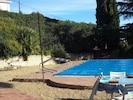 la bâche à barres :piscine l'hiver