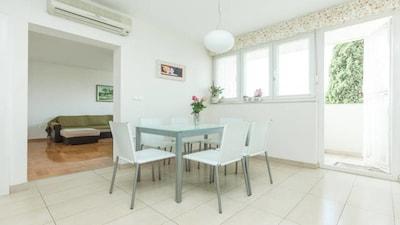 Living & dining room, balcony,  Apartment Sun, Split, Croatia