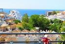 Sea view from the terrace. Vue de la mer depuis la terrasse. Meerblick vTerrace