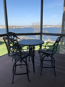 Patio table and view