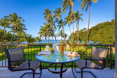 private seating on the Lanai views ,sunsets