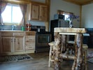 Kitchen with Log High Top Table