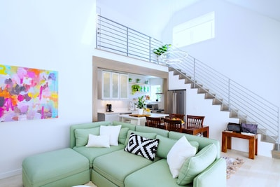 Bright airy great room.