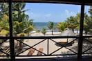 Beachfront Blue Moon Cabana. View from the veranda.