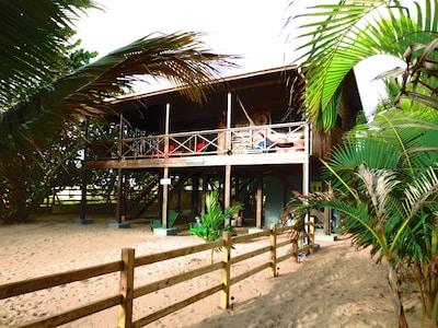 Beachfront Blue Moon Cabana in the center of Hopkins Village, Belize
