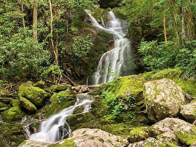 We have Many Waterfalls in the Smokies. Take a hike to enjoy the beauty.
