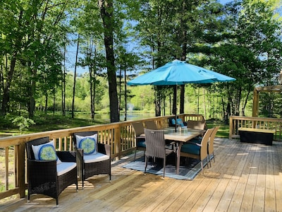 Patio Area overlooking pond/firepit