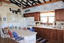 Large, fully stocked kitchen