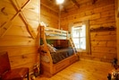 Critter Corner with twin over Full and a Twin trundle bed