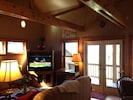 WIFI - Entertainment Center & French Doors to Covered Deck