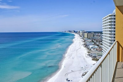 Balcony View, One of the best on the Beach.... WOW!!!