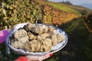 White truffles can be brought to you by our truffle hunter during the season