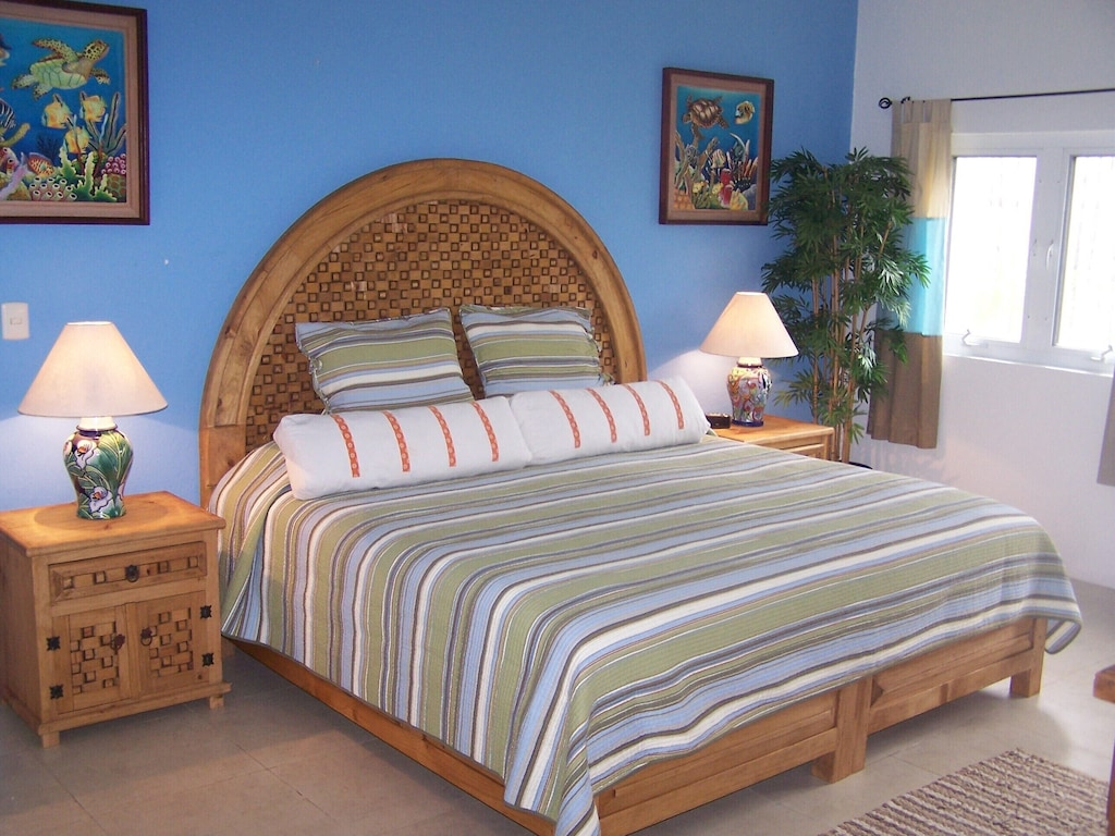 2nd Master downstairs  King sized bed,large private bath with walk in shower