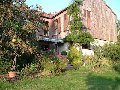 Rear of the house with terrace and garden access