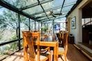 Sunroom.  Treehouse dining.