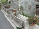 la fontaine située à 50 m de la maison où les enfants aiment pêcher les têtards.