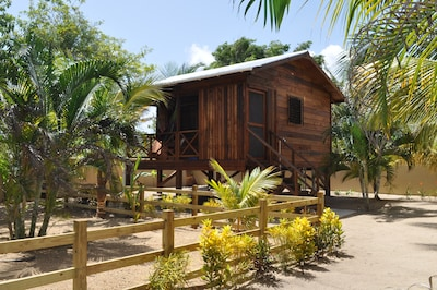Baby Blue Cabana enjoys seaviews and has a private walkway to public beach & sea