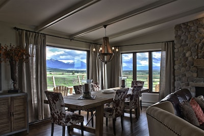 Dining area with a view.