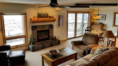 Open living area high on the mountain
