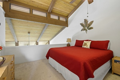 Loft Bedroom has a King Size Bed which can be split into two (2) Extra Long Twin