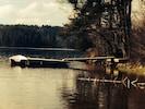 Privatsteg mit Boot Linda am Stora Kvarnsjön