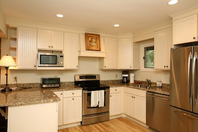 Gourmet kitchen with all stainless steel appliances