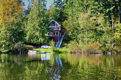 View of Chalet from across lake.