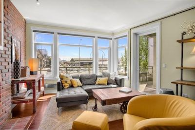 Cozy Urban Industrial Living Room Space